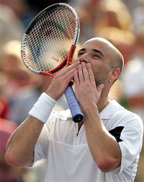 Agassi Flying Kiss